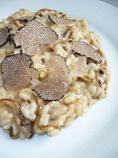 Risotto aux champignons et à la truffe