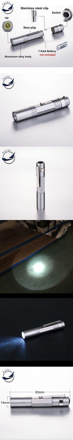 [TAIYI]2016 Hot sell popular mini  PEN LED flashlight LED lamp with pen clip premium design ultra bright free shipping