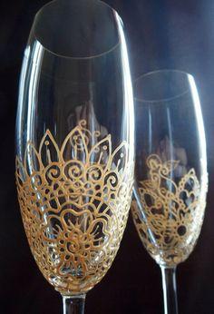 Mehndi Designs Glassware