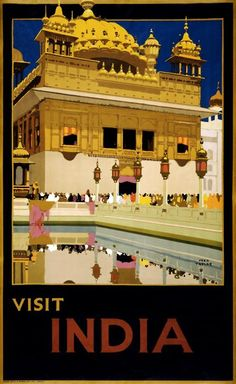 India #vintage #travel #poster | More vintage lusciousness here: http://mylusciouslife.com/photo-galleries/vintage-style-lovely-nods-to-the-past/