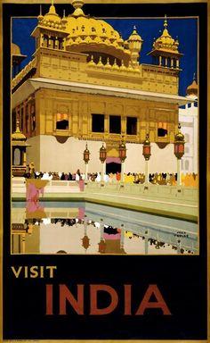 India #vintage #travel #poster