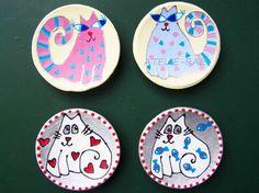 Hand-painted ceramics  Acrylic paints  www.atelie-rae.eu