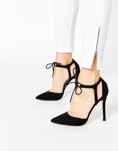 Keep it classy and fun with the ASOS COLLECTION ASOS PLAY THE GAME Lace Up High Shoes.