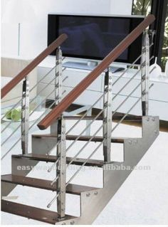 Outdoor Stainless Steel Handrail For Steps In Modern Design   Stainless Steel Handrails Near Me   Glass Railing Systems   Staircase Railing   Stair Railing   Metal   Relaxdays Stainless