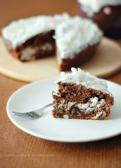 Carrot Cake with Coconut and Vanilla Cream Cheese