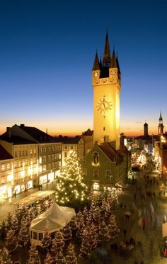 Christmas Market in Straubing, Germany