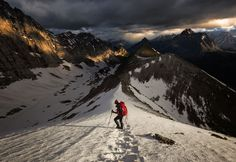 One of the most dramatic hiking routes in Canada is over Pocaterra Ridge in Kananaskis Cou. Travel Alone, Us Travel, Solo Travel, Beautiful Landscape Photography, Beautiful Landscapes, Hiking Routes, Hiking Photography, Colorado Hiking, Canadian Rockies