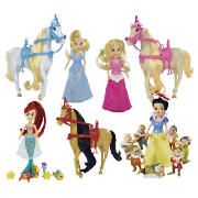 Disney Princess Mini Dolls Value Pack - This Micro Playset allows you to create scenes from 4 different Disney Princess movies with this miniature doll set. There are lots of friends to join in the fun including 3 individually designed hors http://www.comparestoreprices.co.uk/dolls/disney-princess-mini-dolls-value-pack-.asp
