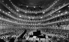 INSIDE THE OLD METROPOLITAN OPERA HOUSE – NEW YORK CITY, 1937 Photograph via The National Archives and Records Administration House in New York City on November 28, 1937.