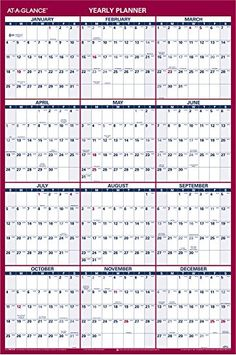 At a glance wall calendar 2015