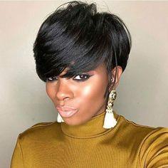 New Bob Haircuts 2019 & Bob Hairstyles 25 Bob Hair Trends for Women - Hairstyles Trends Black Women Hairstyles, Girl Hairstyles, Short Sassy Hairstyles, Hairstyles 2018, Hairstyles Pictures, African Hairstyles, Edgy Haircuts, Ponytail Hairstyles, Tapered Twa Hairstyles