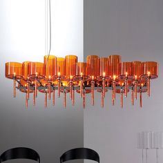 Discover the suspension lamp SPILLRAY images, features and technical data sheets of SPILLRAY produced by Axolight. Orange Chandeliers, Mirror With Lights, Light Orange, Light Decorations, Chandelier Lighting, Modern Lighting, Light Fixtures, Ceiling Lights, Design