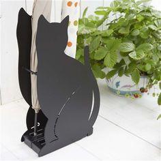 かさたて ネコ ブラック(ブラック) Francfranc(フランフラン)ファッション雑貨 レイングッズ 傘立て