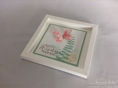 The Craft Spa - Stampin' Up! UK independent demonstrator : Small Narrow Shadow Box Frame Card!