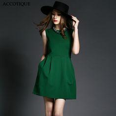 77e5562f0662 Emerald Green Casual Short Dress High Neckline Price  90.99  deals Look  Thinner