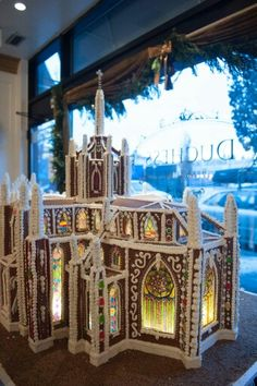 Gingerbread cathedral from Duchess bakery, Edmonton, Alberta, Canada