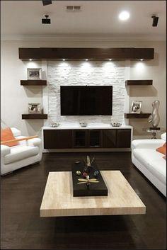 Living Room Decor Cozy, Home Living Room, Tv On Wall Ideas Living Room, Small Living Room Ideas With Tv, Living Area, Home Decor Ideas, Home Interior, Interior Design, Interior Ideas