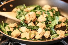 Ginger Chicken and Kale ~ Lauren Kelly Nutrition