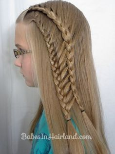 Double Half French Ladder Braids from BabesInHairland.com #ladderbraid #braids #frenchbraid #video