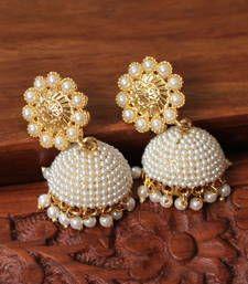 Buy Gorgeous designer pearl finish cute jhumkkas jhumka online