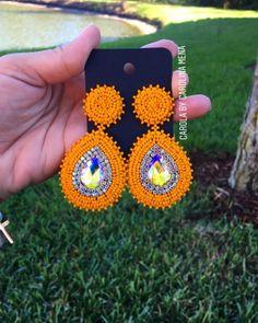 Beaded Earrings, Clip On Earrings, Earrings Handmade, Crochet Earrings, Handmade Jewelry, Bead Jewellery, Beaded Jewelry, Jewelery, Craft Accessories
