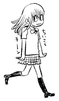 高校生アラレちゃんが、ちいさくキーン illustration by 青木俊直 Toshinao Aoki via Twitter @aoki818 #manga Dr. Slump Arale