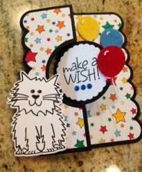 April Card Kit, Stamps of Life Markers,Sizzix Flip it die, and birthday4cookie sentiment