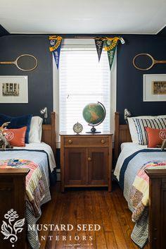boy's bedroom | vintage sports theme | miss mustard seed