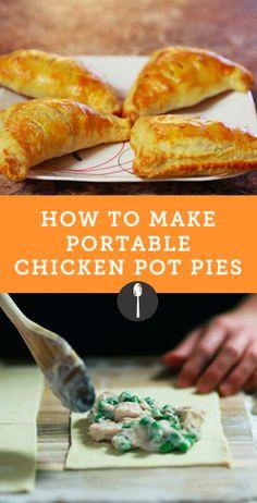 Chicken pot pie recipe you can take on the go via @spoonuniversity