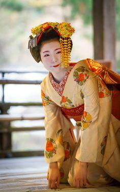 The young maiko Fukuya of Miyagawacho. (Source)