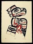 Very cool Tsimshian Eagle Print by David Boxley from my mother's hometown. My family is part of the Eagle Clan.