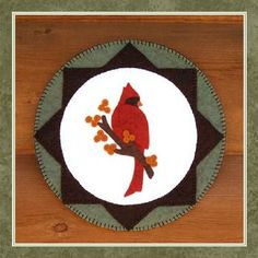 pretty cardinal Candle Mat