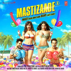 Mastizaade (Original Motion Picture Soundtrack) - EP by Amaal Mallik, Meet Bros Anjjan & Anand Raaj Anand Bollywood Movies Online, Latest Bollywood Songs, Hindi Movies Online, Indian Movie Songs, Grand Masti, Movie Info, Family Movies, Films, Film