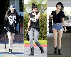 Looks Kylie Jenner, Kendall Jenner, Punk, Tumblr, Style, Fashion, Rocker Look, Celebrity, Swag
