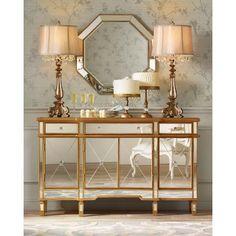 "Hornbeck Gold Octagon 34"" x 34"" Beveled Wall Mirror  Vanity mirror!"