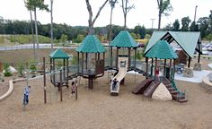 Big Timber themed Center Stage at Frances Meadows in Gainesville, GA Playground Design, Outdoor Playground, Cool Things To Make, Things To Come, Commercial Playground Equipment, Outdoor Furniture Sets, Outdoor Decor, Center Stage, Open Concept