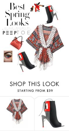 """Romper spring look"" by im-karla-with-a-k ❤ liked on Polyvore featuring H&M, Urban Decay and Alepel"