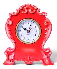 Take a look at this Persimmon Boho Clock by Foreside on #zulily today!