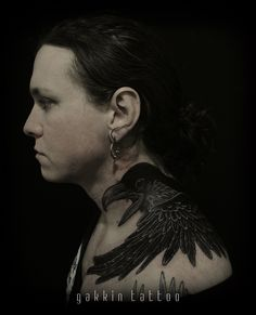 Raven on Laura Jane Grace. freehand work in Kyoto,Japan