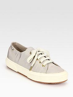 THE ROW FOR SUPERGA Silk Faille Lace-Up Sneakers