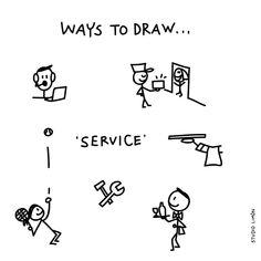 'How may we help you..?' Word of day 22: Service. . . #365waystodrawfestival #service #illustratie #illustration #tekening #waystodraw #icons #sketchnote #visualnote #graphicrecording #getekendverslag #getekendenotulen #zakelijktekenen #visuelenotulen #visueelnotuleren #tekening #studiolimon #haarlem #amsterdam #denbosch Doodle Sketch, Doodle Drawings, Easy Drawings, Doodle Art, Visual Thinking, Design Thinking, Visual Note Taking, Sketch Notes, Daily Drawing