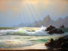 Seascape 1980 24x36 by Anthony Casay - Original Painting | Oil on Canvas | 24 x 36 inches | 61 x 91 cm
