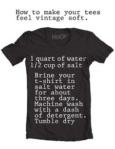 How To Make Your Tees Feel Vintage Soft. Tack
