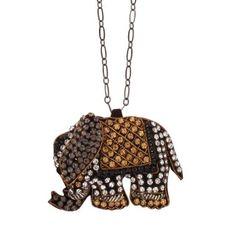 Naszyjnik ze słonikiem.  #necklace #mokobelle #mokobellejewellery #fashion #accessories #elephant #bijou #gurnani