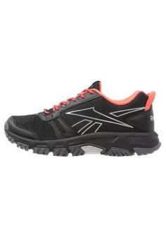 RIDGERIDER TRAIL - Trail hardloopschoenen - black/gravel/neon cherry/shark/steel