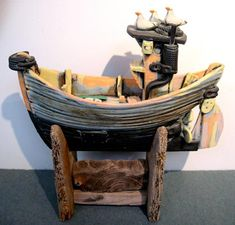 Ceramics by Ronnie Fulton at Studiopottery.co.uk - Fishing Boat, 2008.