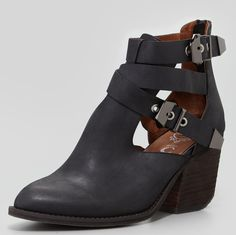 Jeffrey Campbell Buckeye Strappy Cutout Ankle Boot