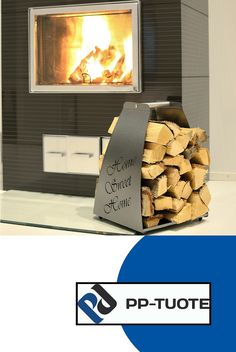 PP-TUOTE from Finland – 'Home Sweet Home' Aluminium Firewood Rack with Cut-out Design, Antique Silver Firewood Rack, Sweet Home, Log Holder, Cut Out Design, Aluminium, Antique Silver, Flooring, Antiques, Crafts
