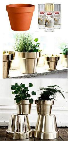 Transformez vos pots de fleurs!