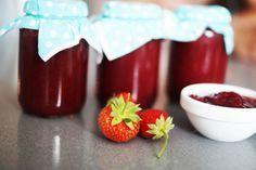 Dżem truskawkowy bez fixów i innych rewelacji. Aga, Canning Recipes, Panna Cotta, Strawberry, Pudding, Fruit, Cooking, Ethnic Recipes, Desserts